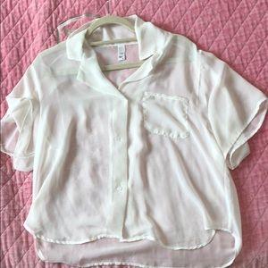 American apparel chiffon shirt